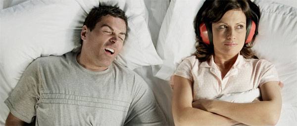 If your partner's snoring wakes you up at night . . .